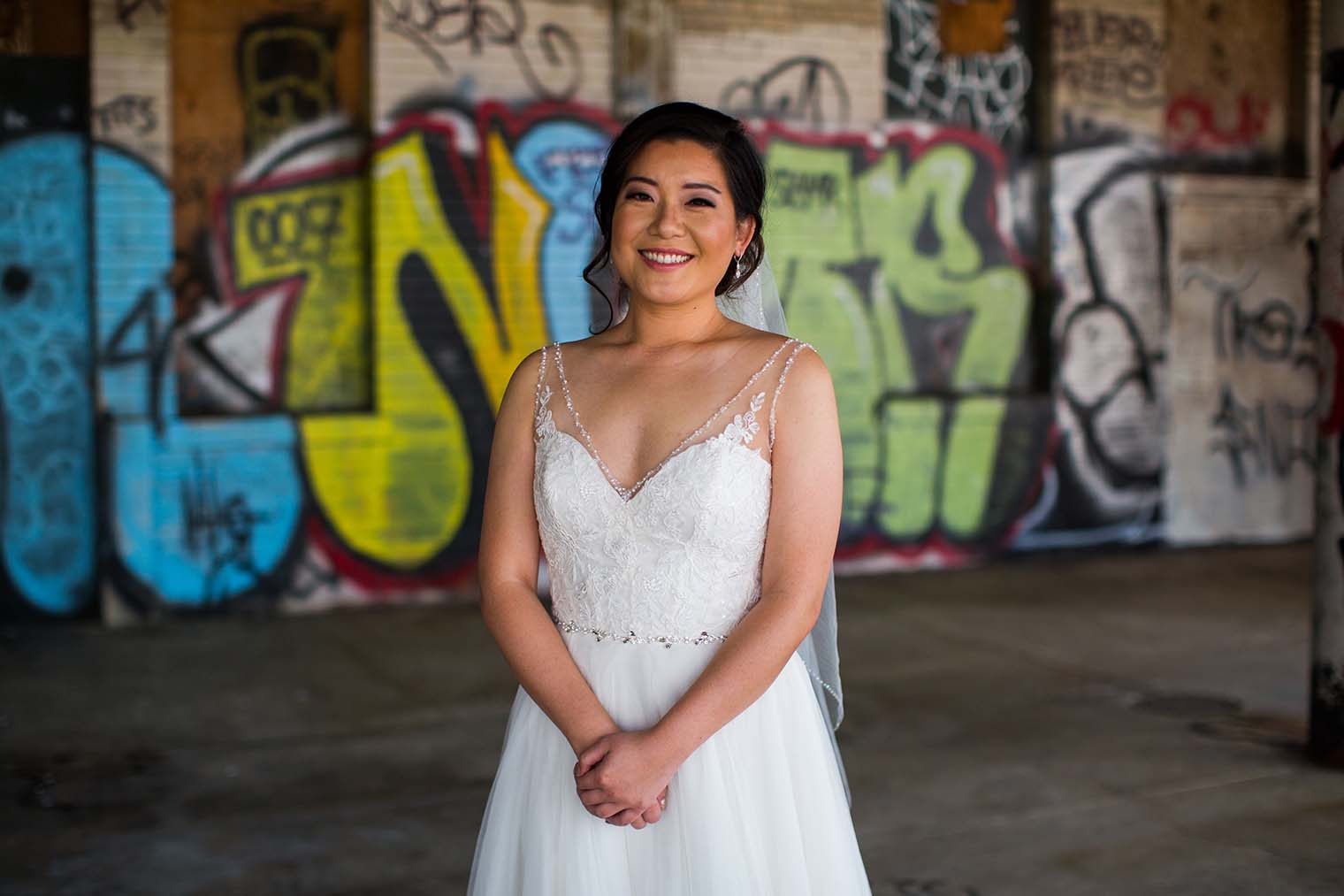 16th Street Station Wedding Bride Portrait