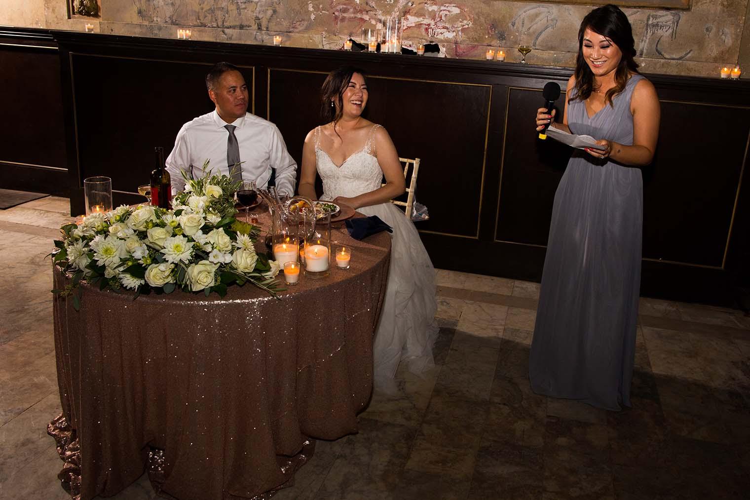 16th Street Station Wedding Toasts