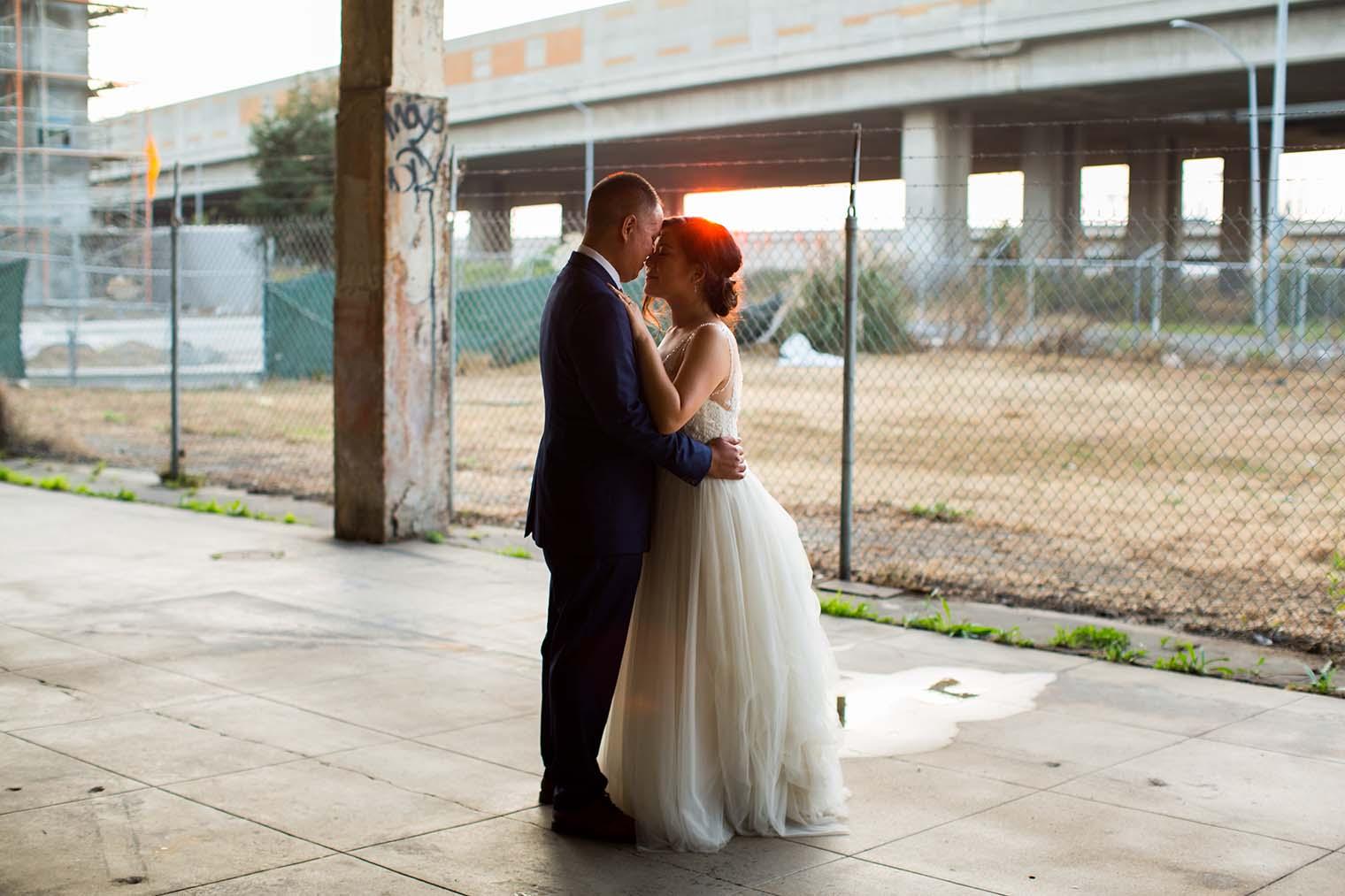 16th Street Station Wedding Sunset