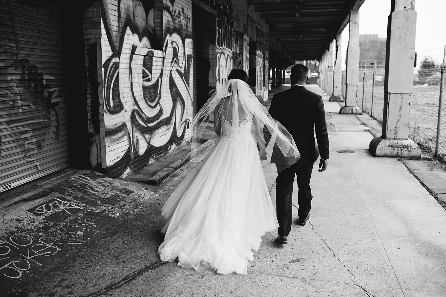 16th Street Station Wedding Couple Portraits