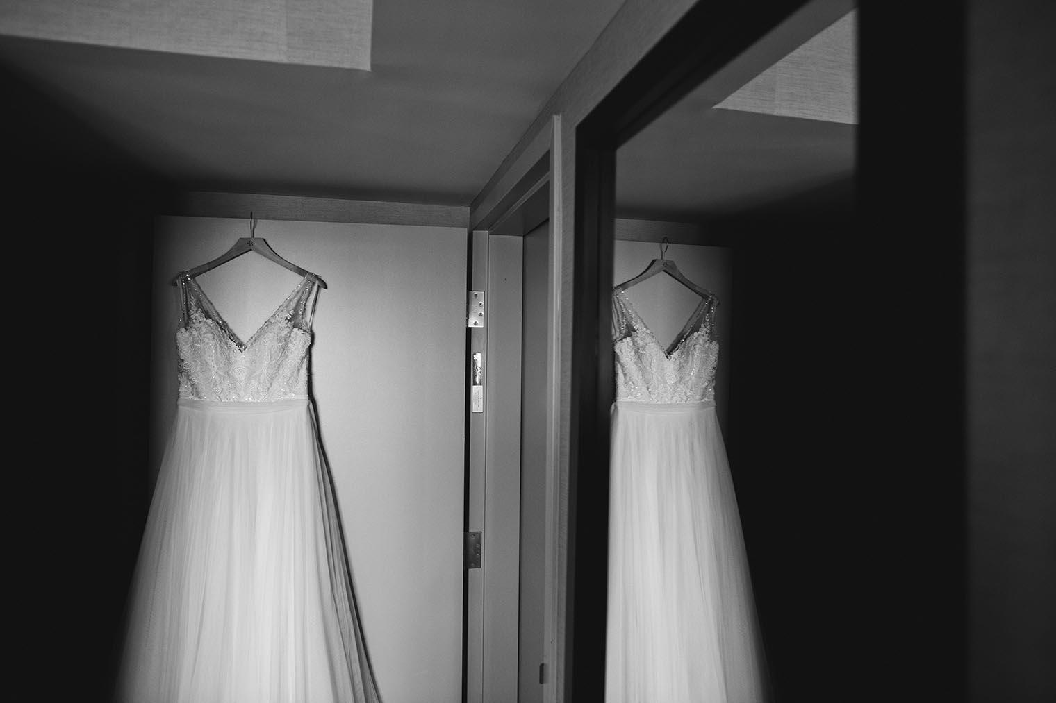 Wedding dress in Oakland Hotel