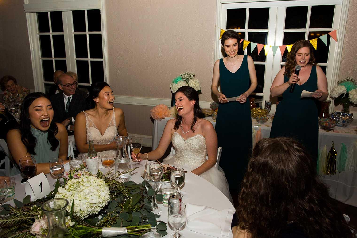 Piedmont Community Hall Wedding Toasts
