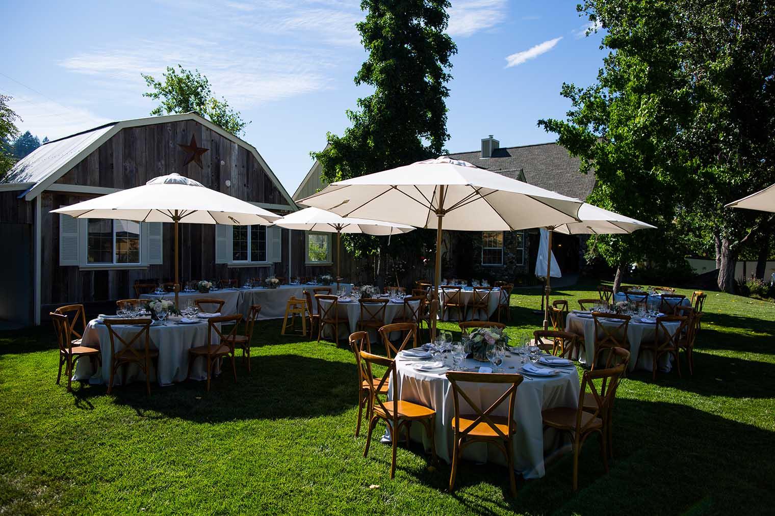 Mountain House Estate Wedding Outdoor Reception