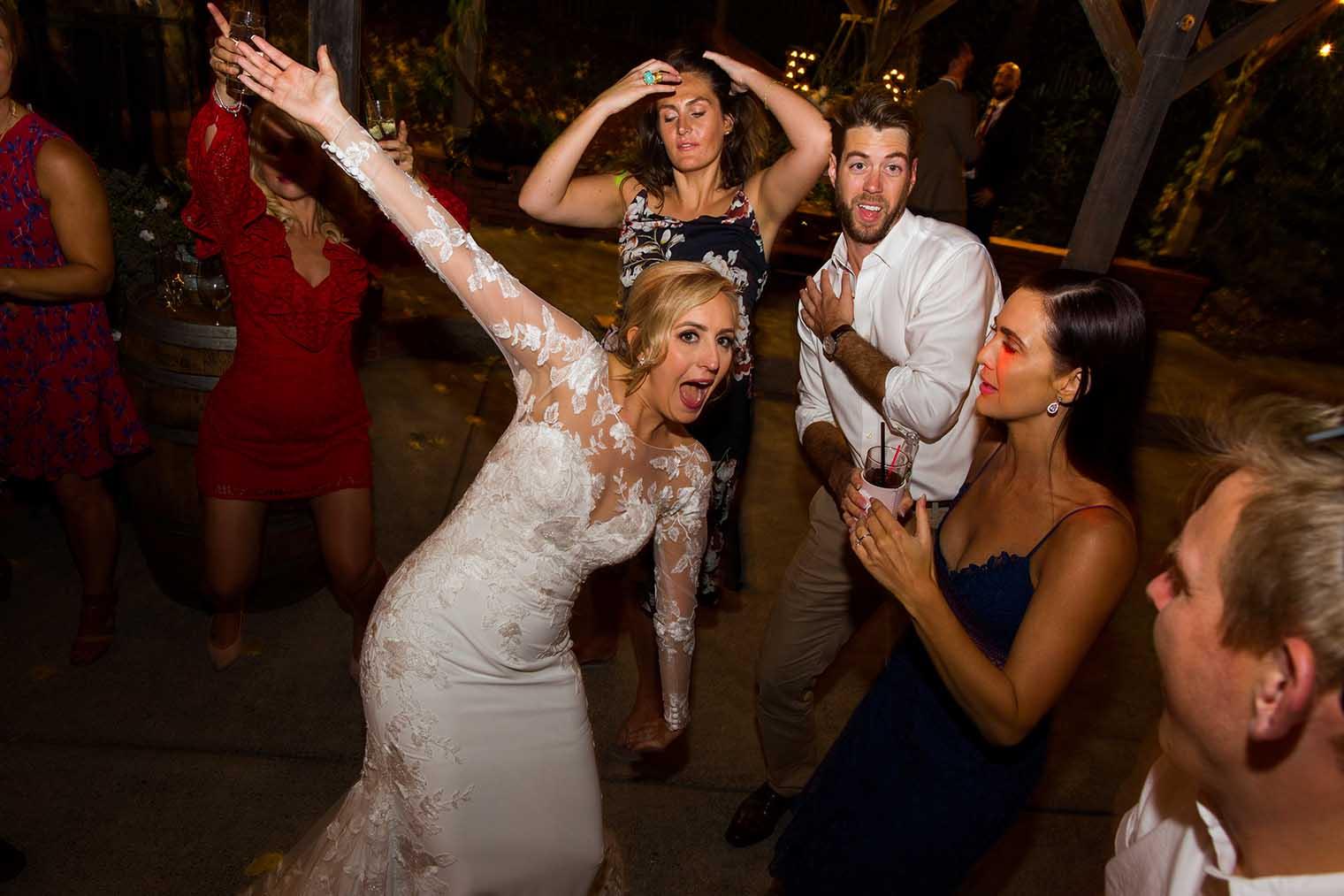 Mountain House Estate Wedding Dancing