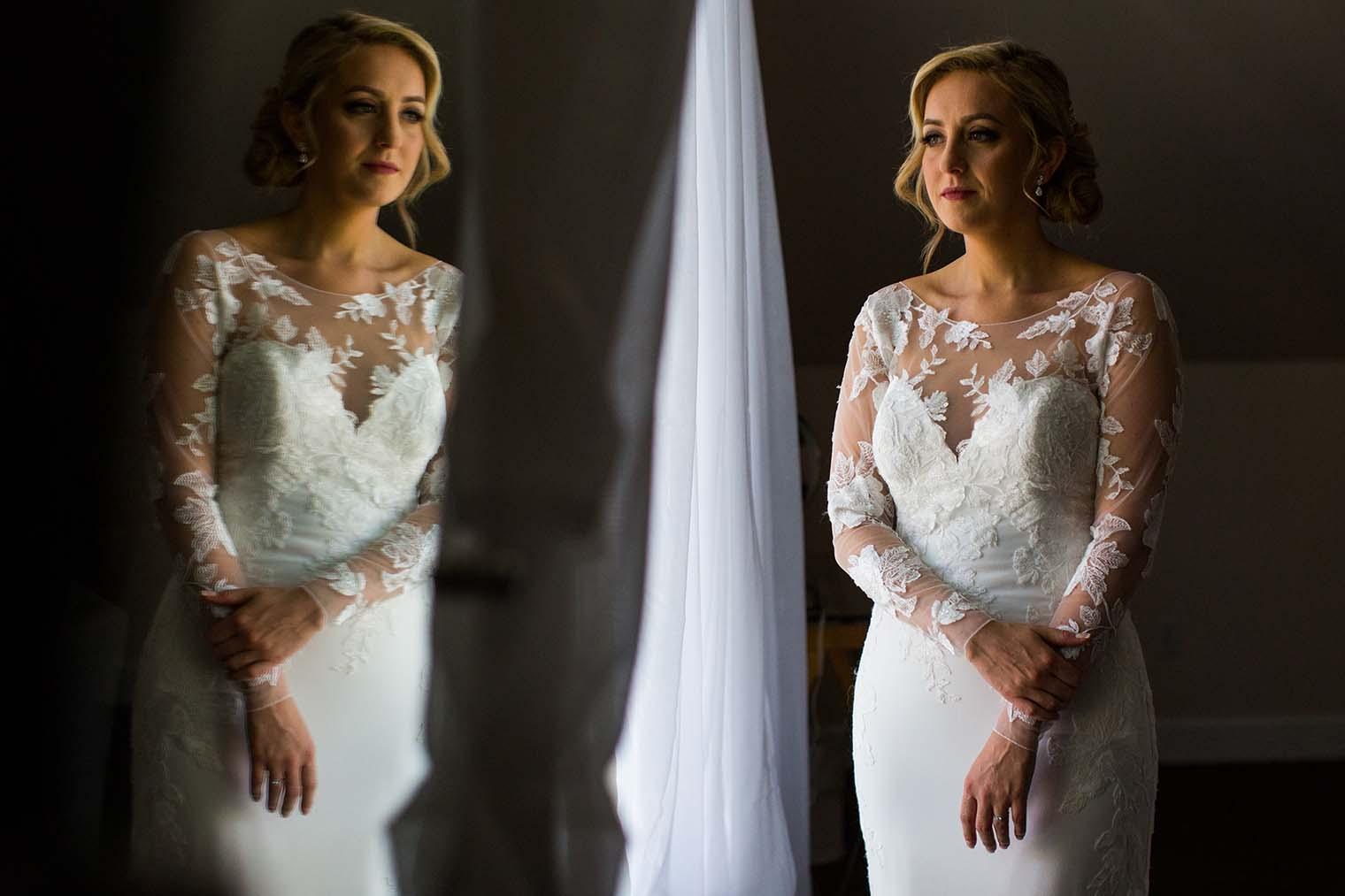 Mountain House Estate Wedding Bride Portrait