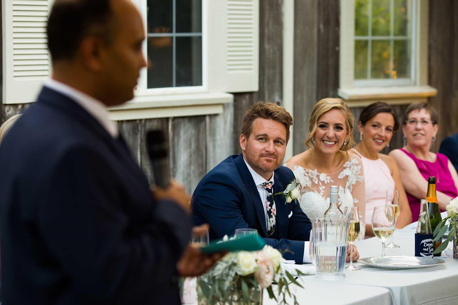 Mountain House Estate Wedding Toasts