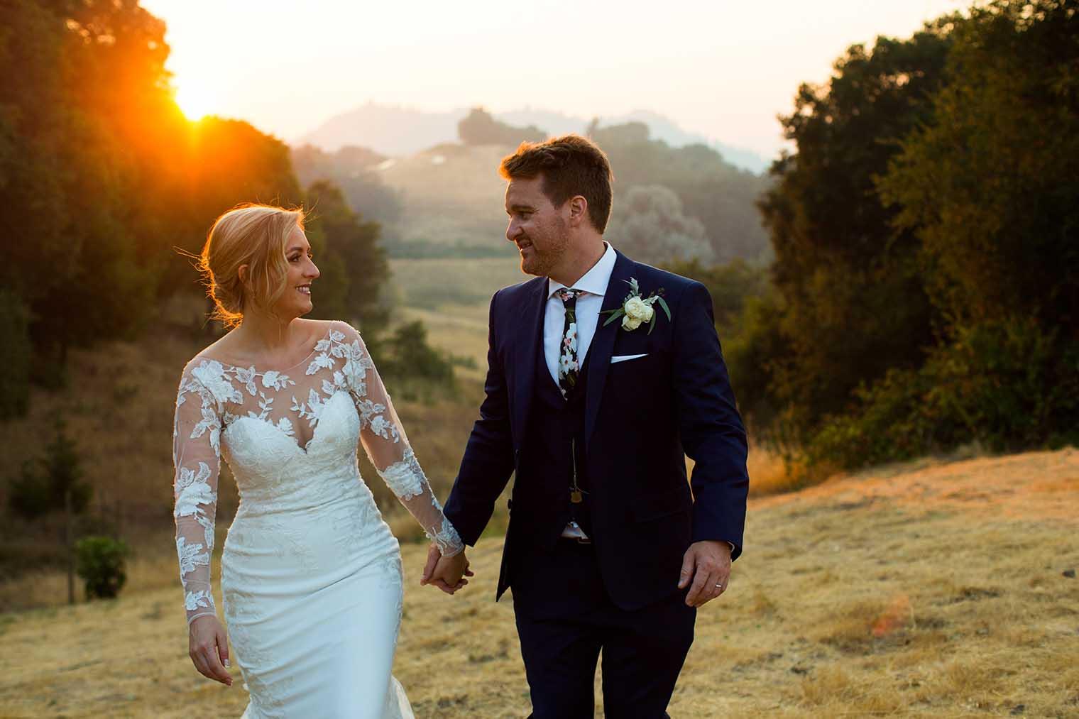 Sunset Couple Photos at Mountain House Estate