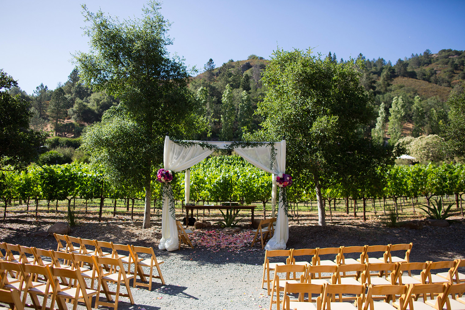ceremony space at Calistoga Ranch
