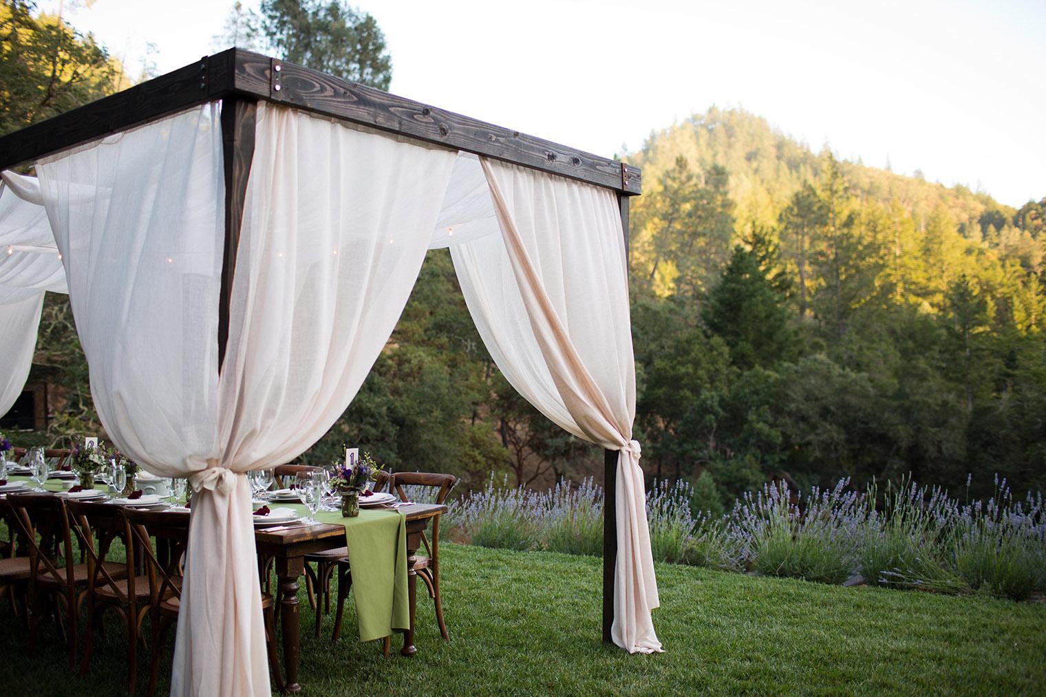 Calistoga Ranch wedding reception