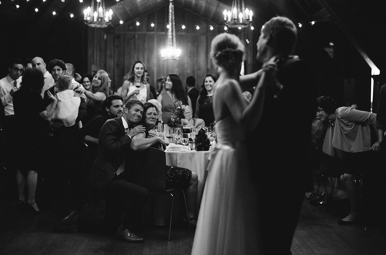 father daughter first dance reaction photo
