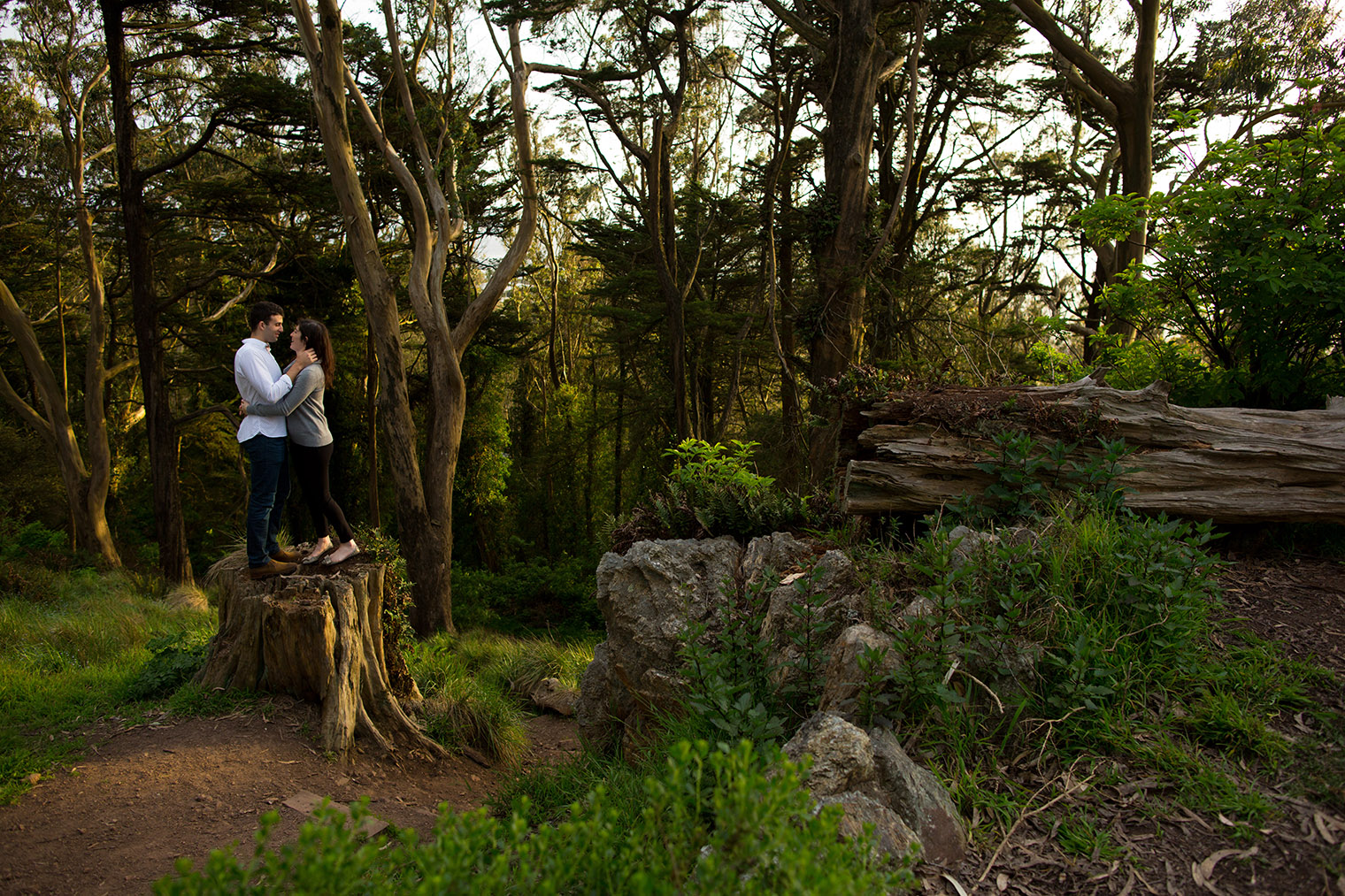 Mt. Davidson Engagement Photos by San Francisco Wedding Photographer