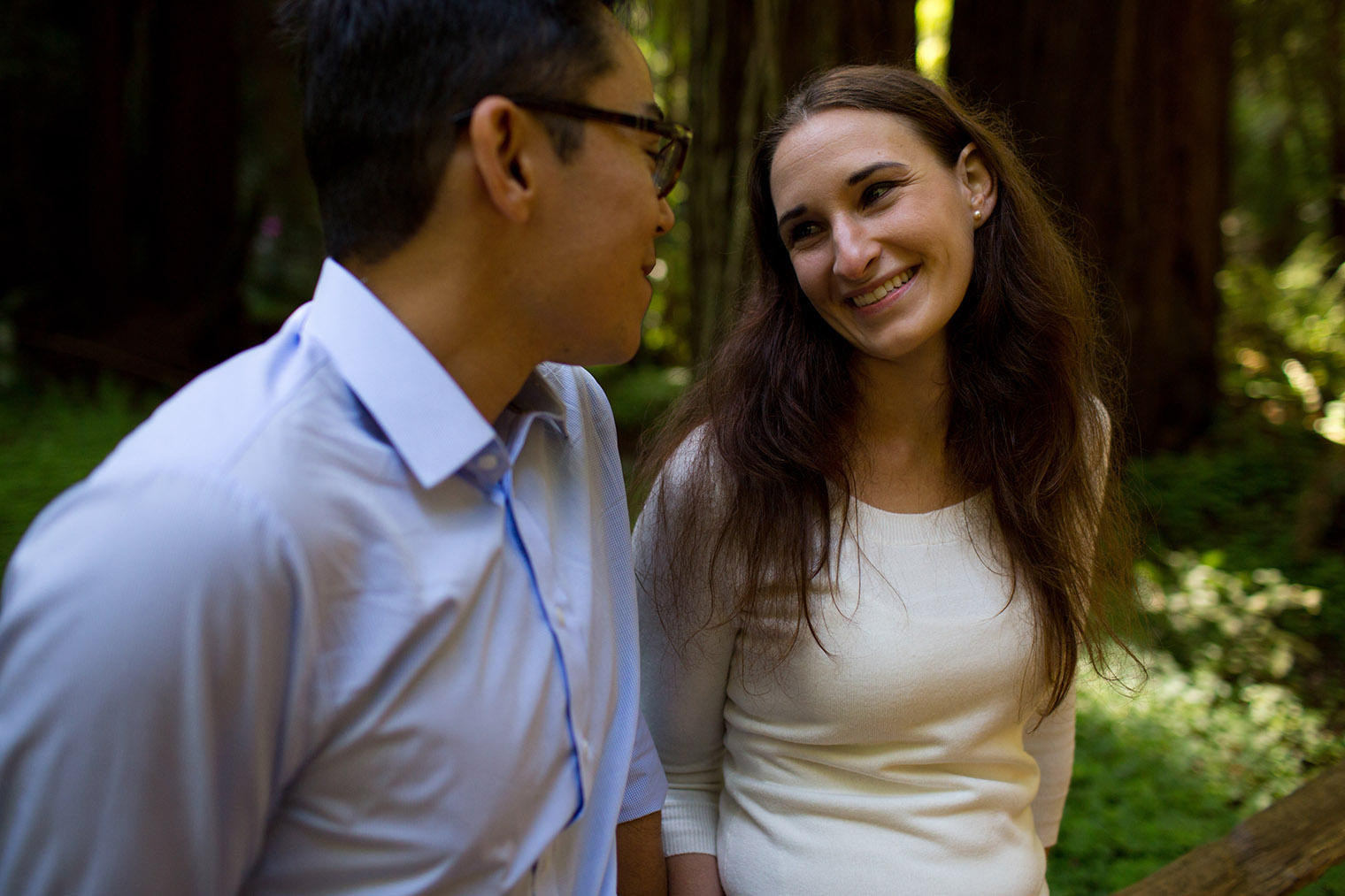 muir woods redwood engagement session
