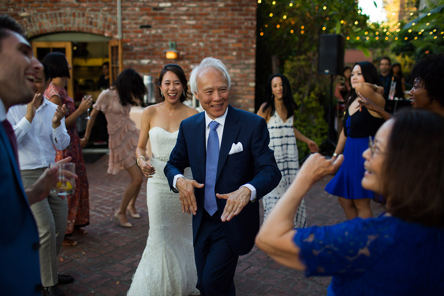 wedding reception at Happy Trails Cafe & Garden