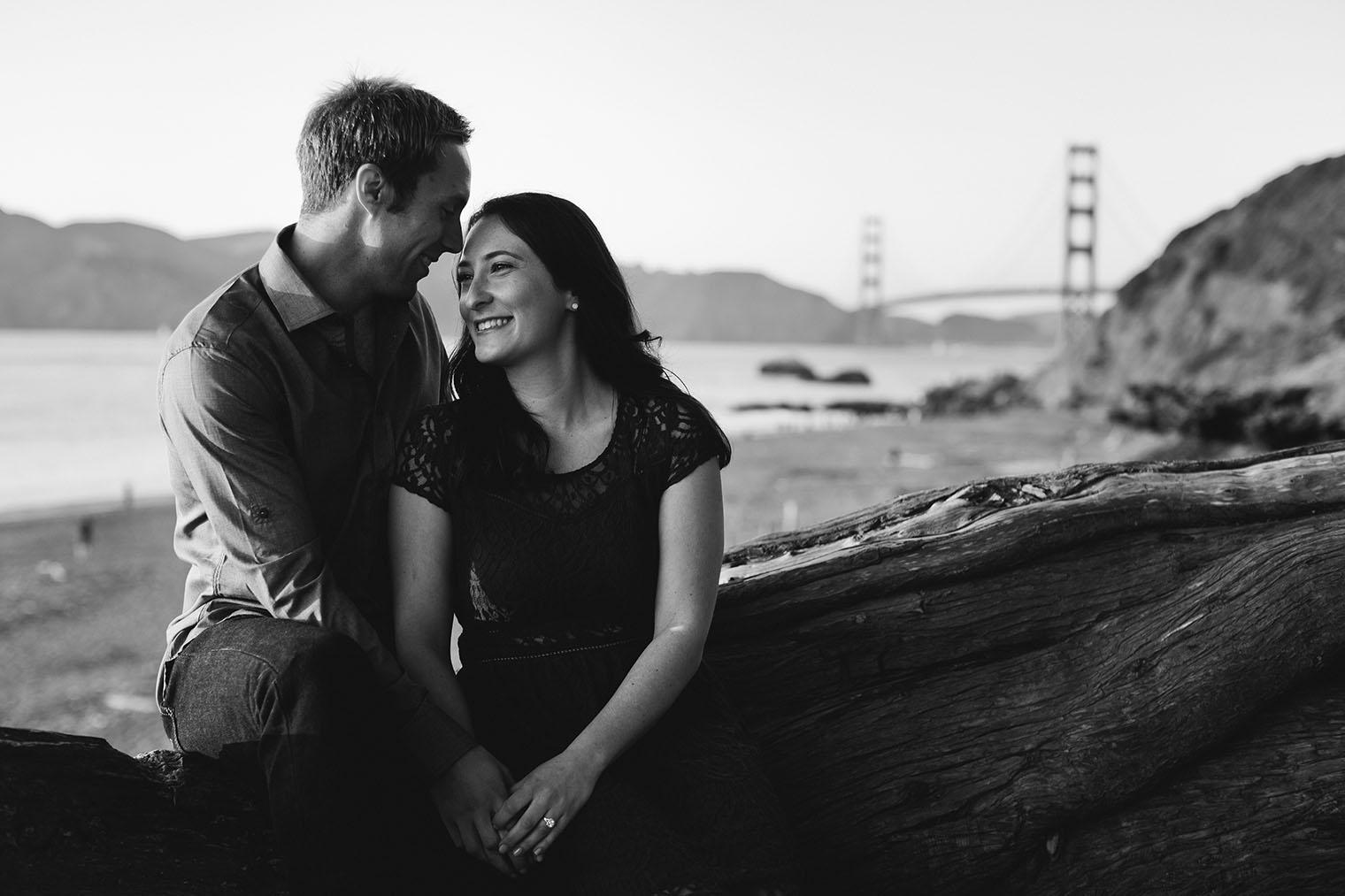 San Francisco Engagement Photos at Baker Beach