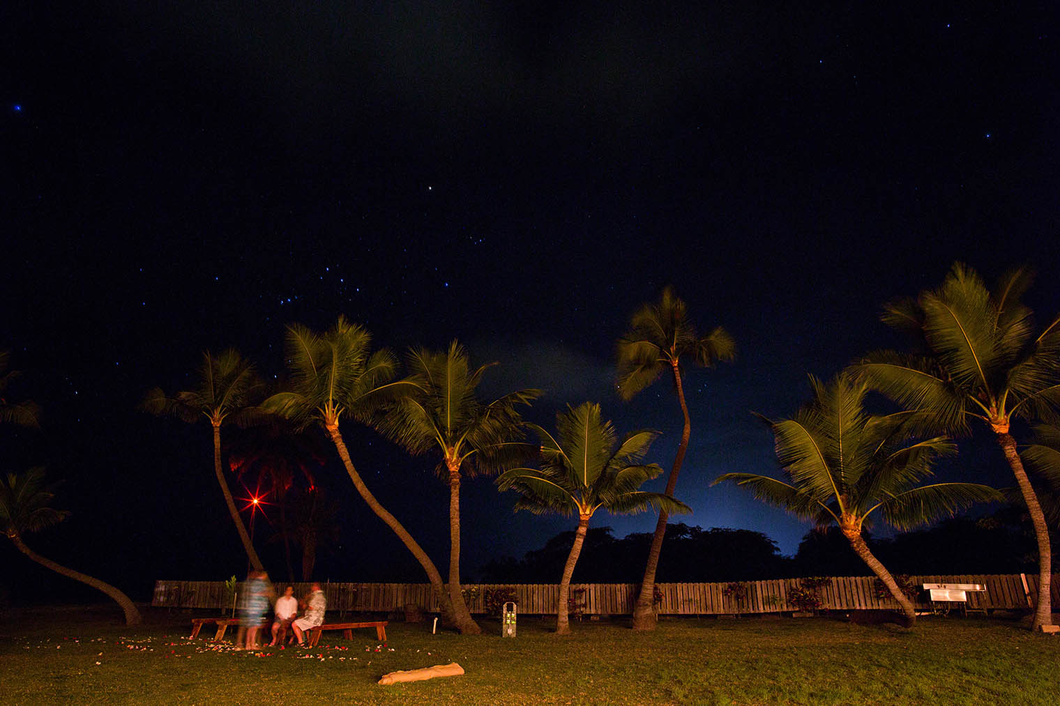 night shot at Kekaha Harbor House