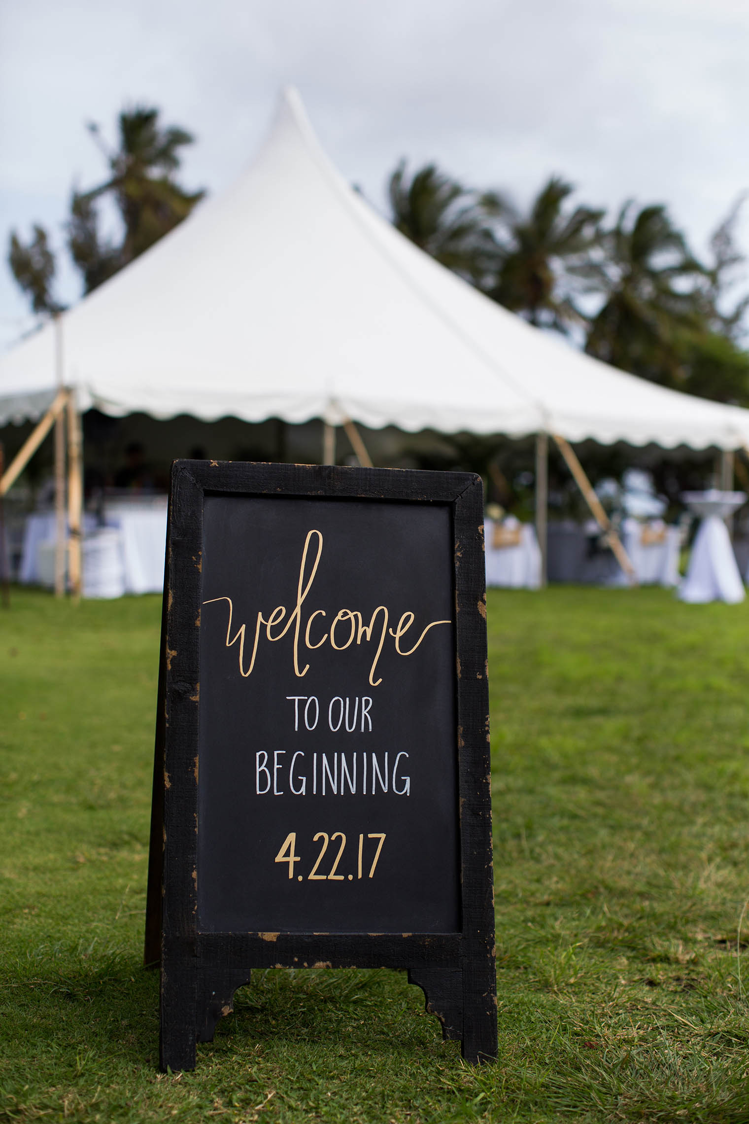 wedding details at Kekaha Harbor House