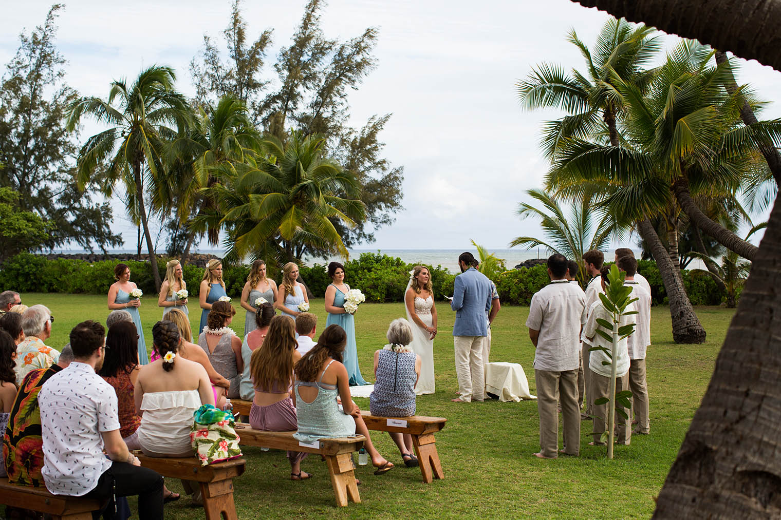Wedding ceremony at Kekaha Harbor House
