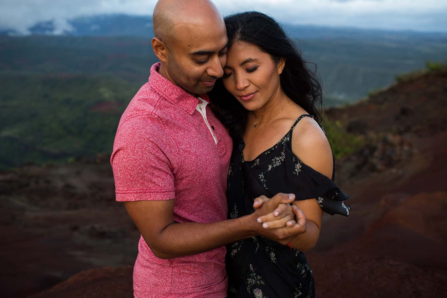 Waimea Canyon Kauai Hawaii Engagement Photos