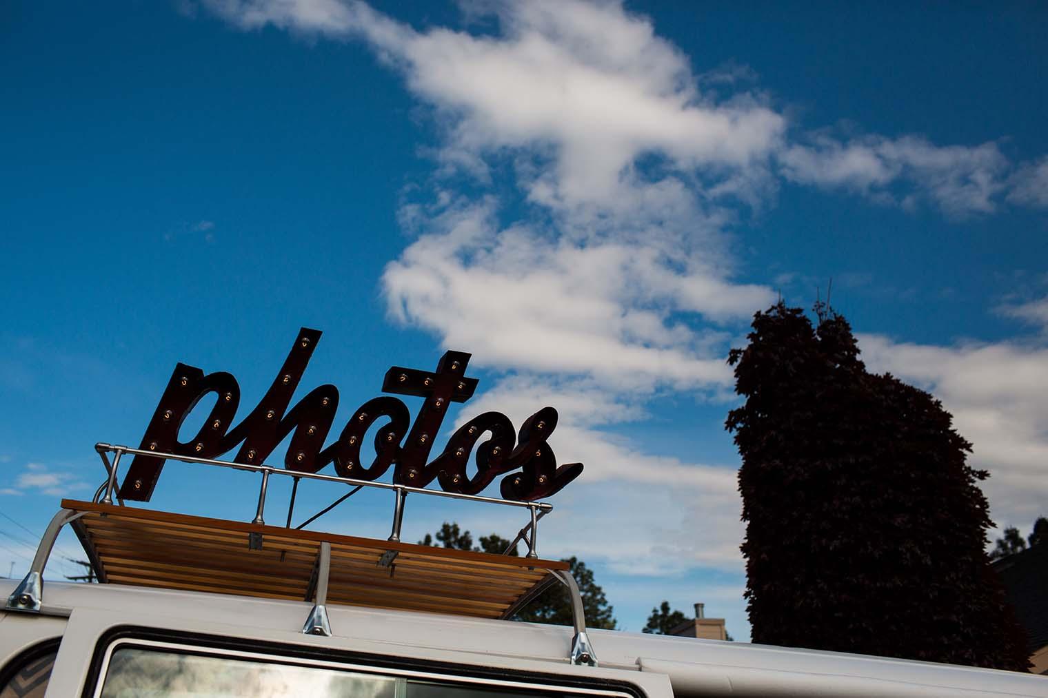 Photo booth at Wenatchee Wedding