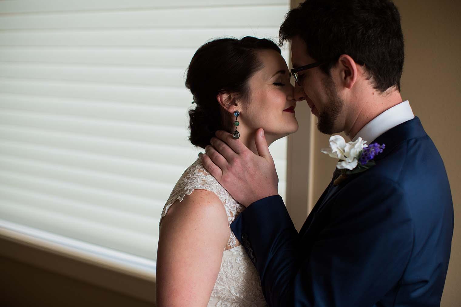 Bride and Groom Portraits by Wenatchee Wedding Photographer