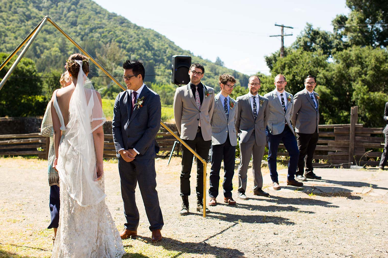 wedding ceremony at jack london state historic park