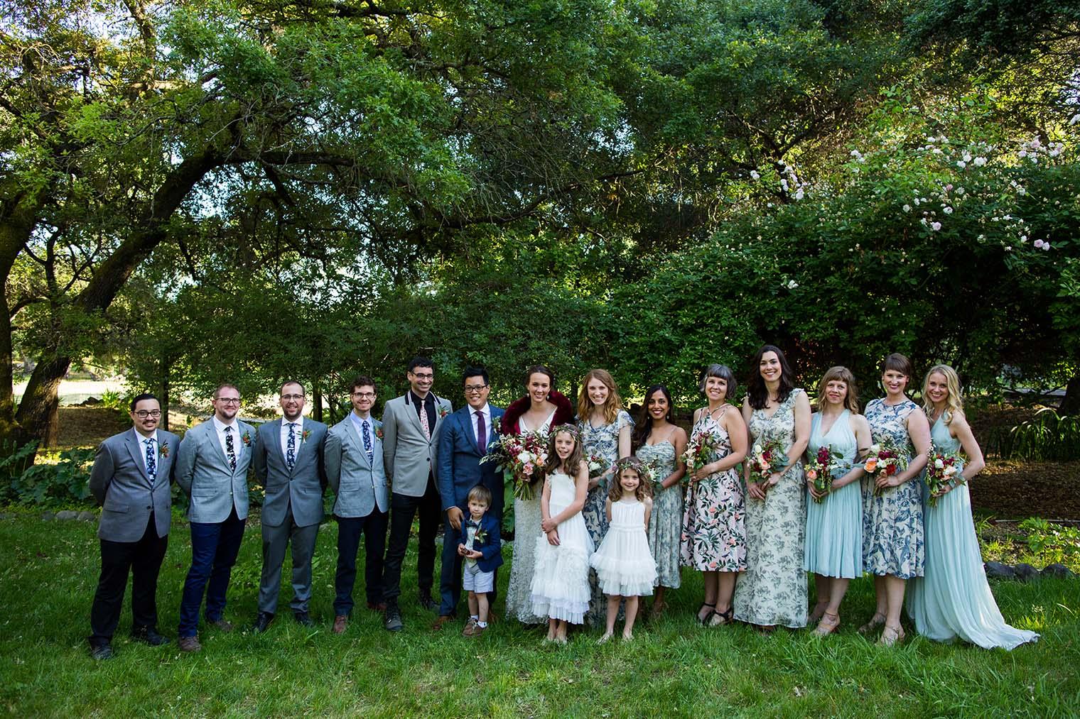 Bridal Party Wedding Photos at Westerbeke Ranch
