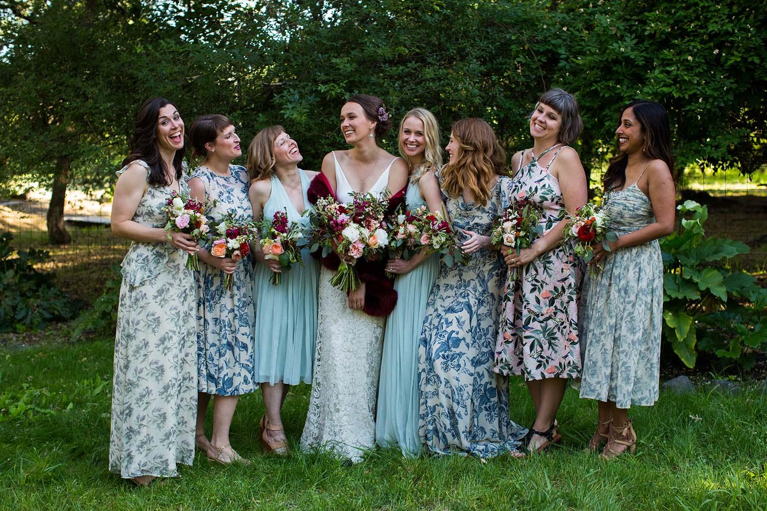 Bridesmaids at Westerbeke Ranch Wedding