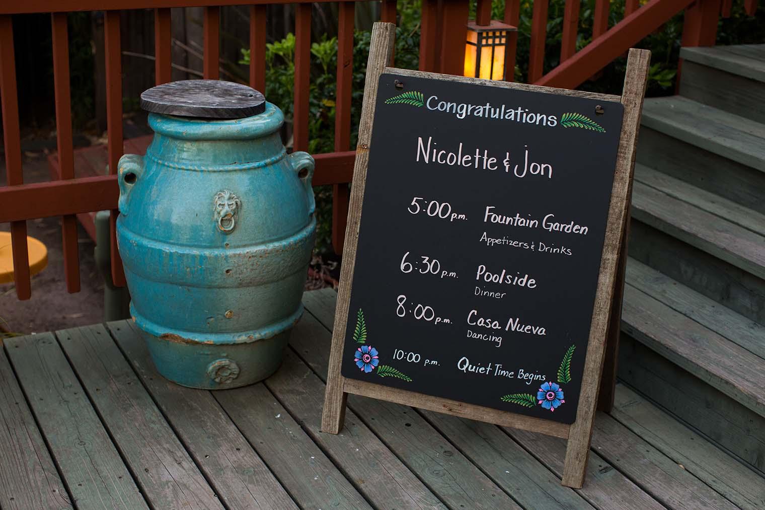 Wedding Details at Westerbeke Ranch