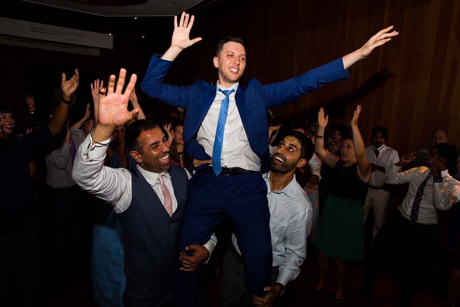 Groom Dancing at San Mateo Wedding