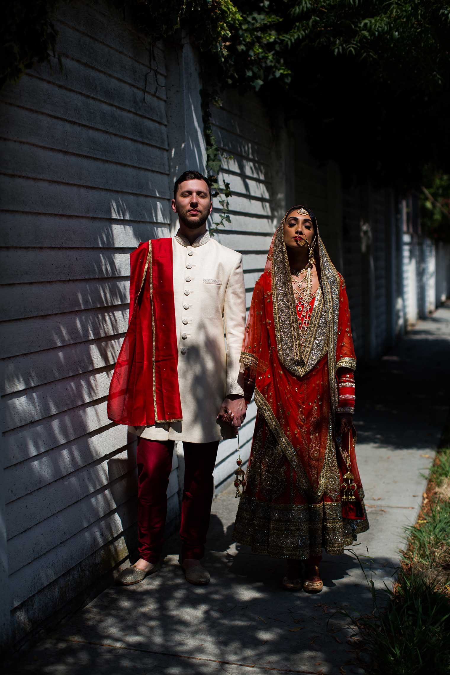 Indian Bride and Groom by San Mateo Wedding Photographer