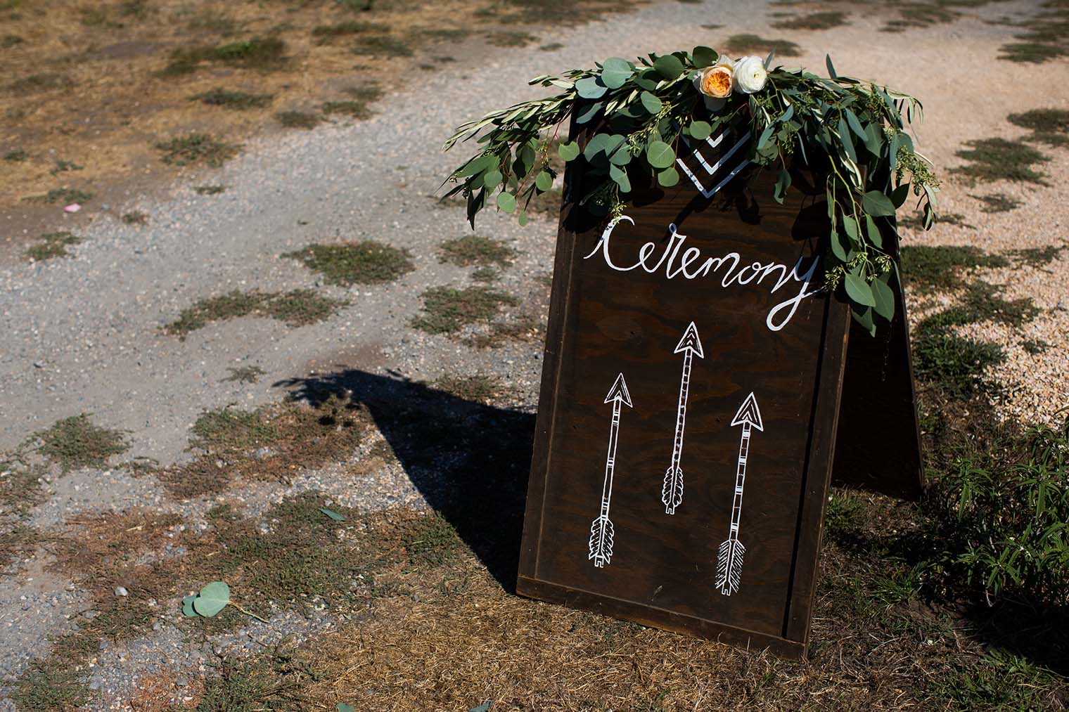 Ceremony Sign at Olympia Valley Estate