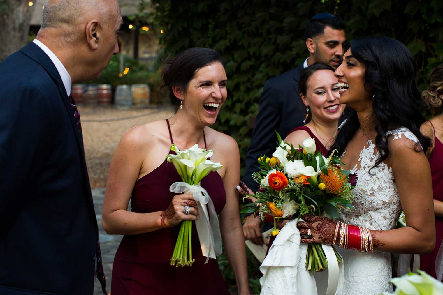 Candid moment at V. Sattui Winery Wedding