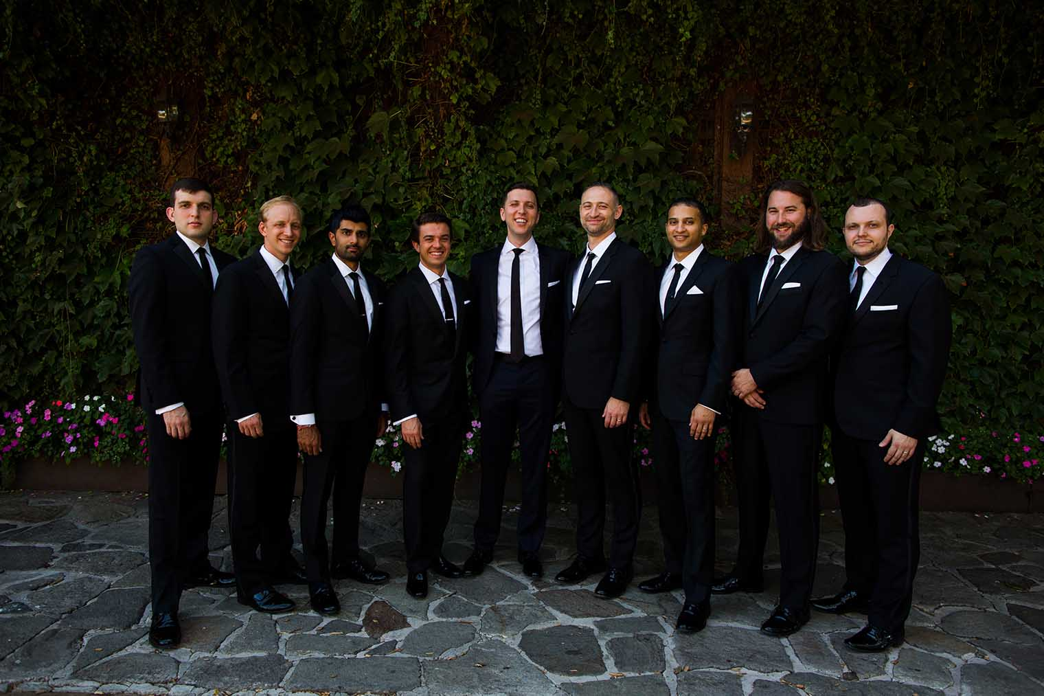 V. Sattui Winery Wedding Bridal Party