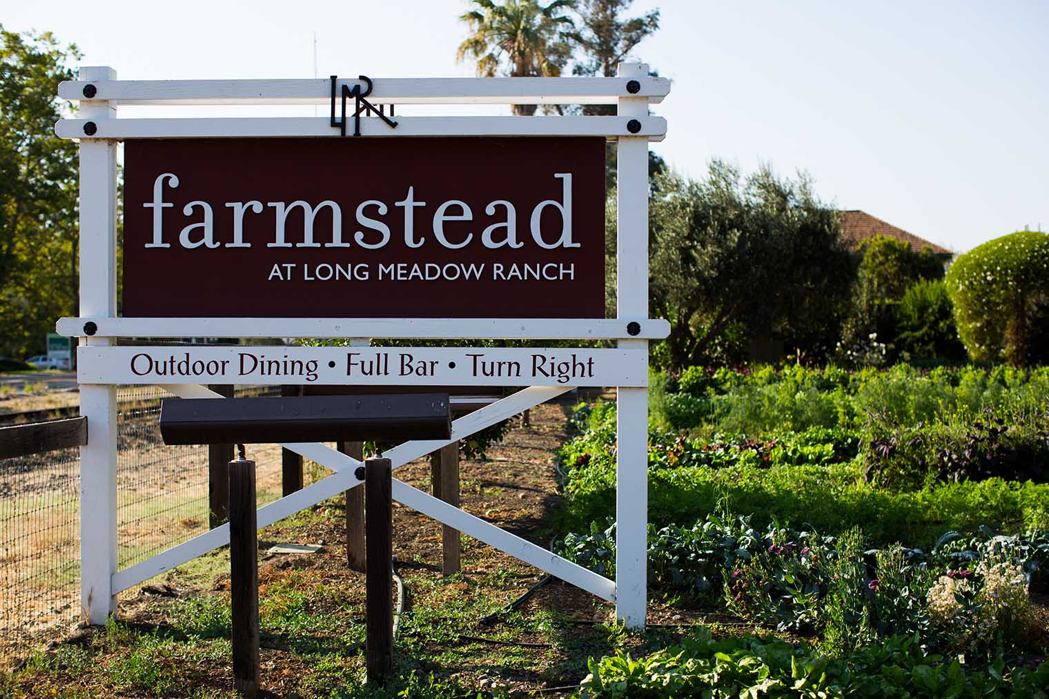 farmstead at long meadow ranch sign