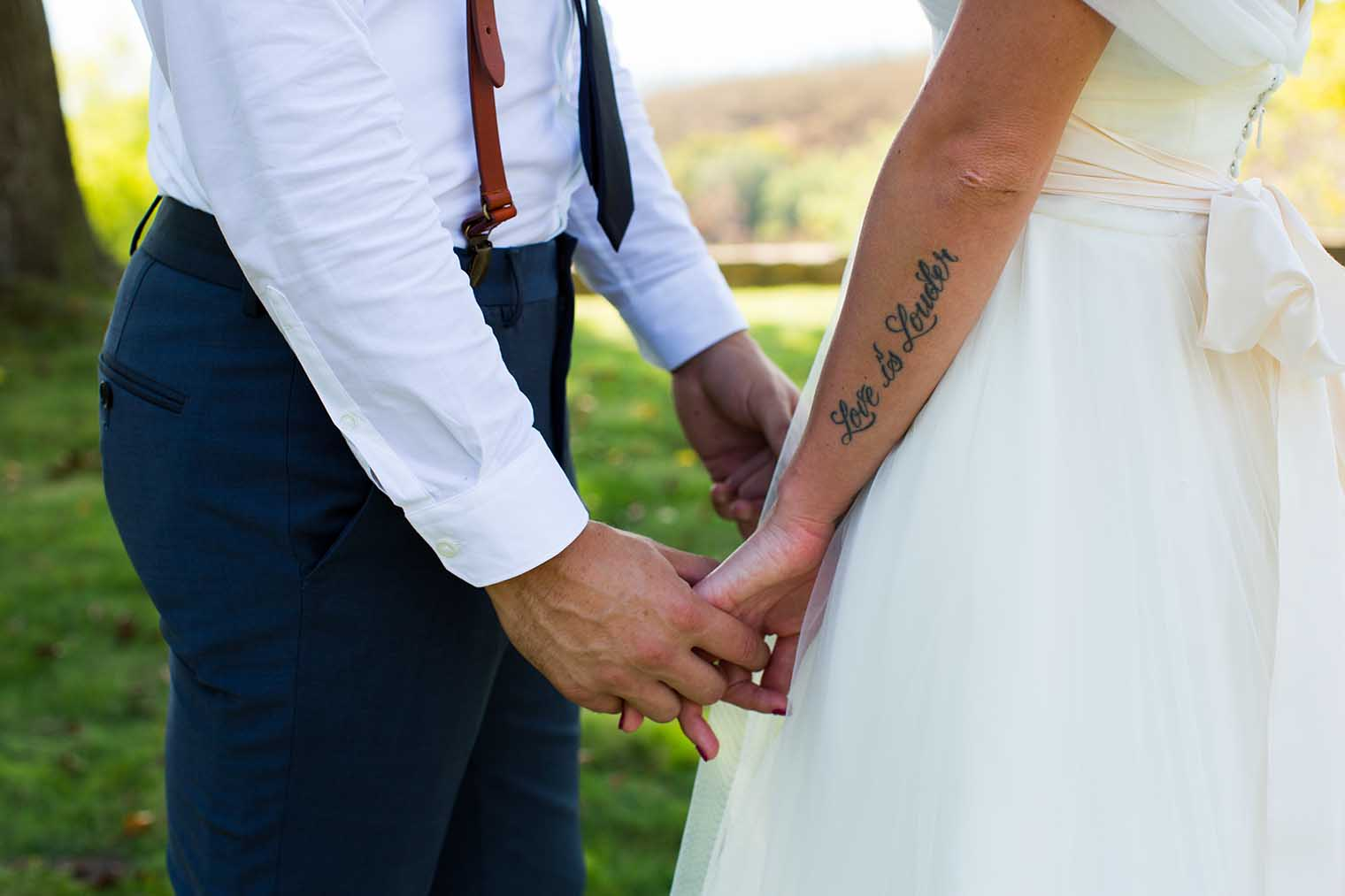 Bride's tattoo
