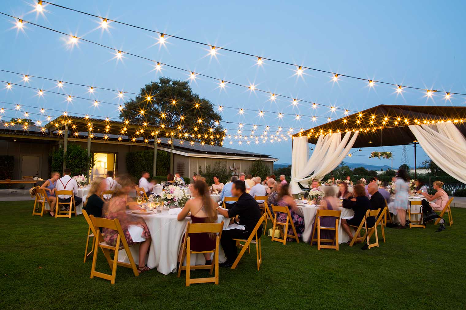 Farmstead at Long Meadow Ranch Wedding Outdoor Reception Space