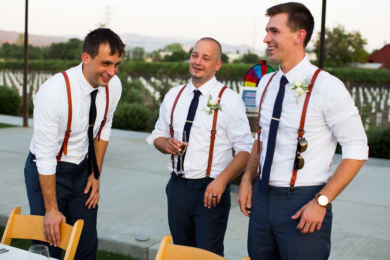 Groomsmen at Farmstead at Long Meadow Ranch Wedding