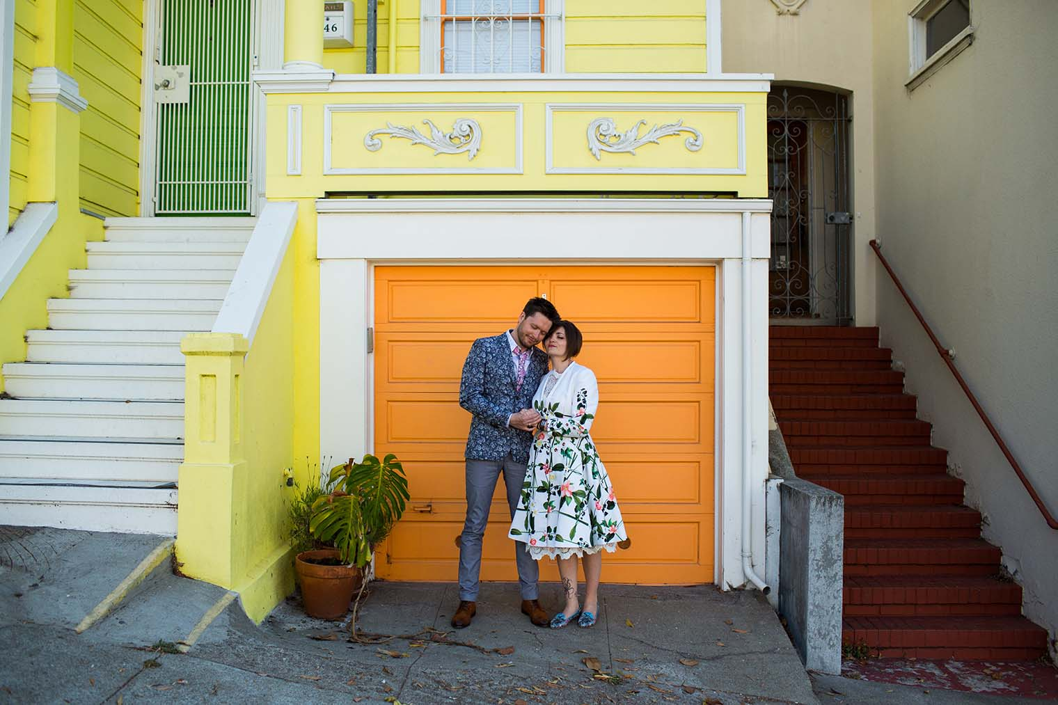 Wedding portraits in the Castro