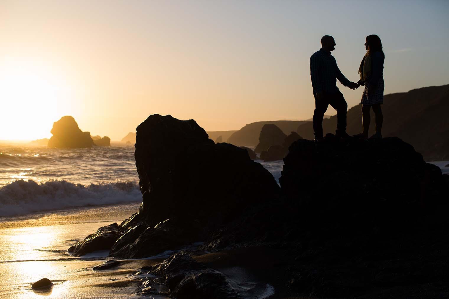 proposal captured at sunset