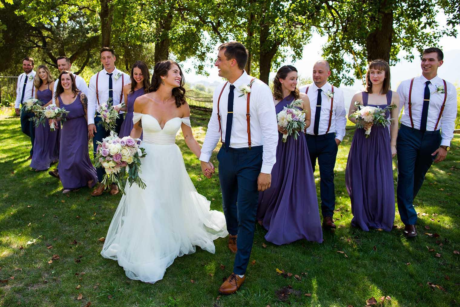 Bridal party in Napa, California