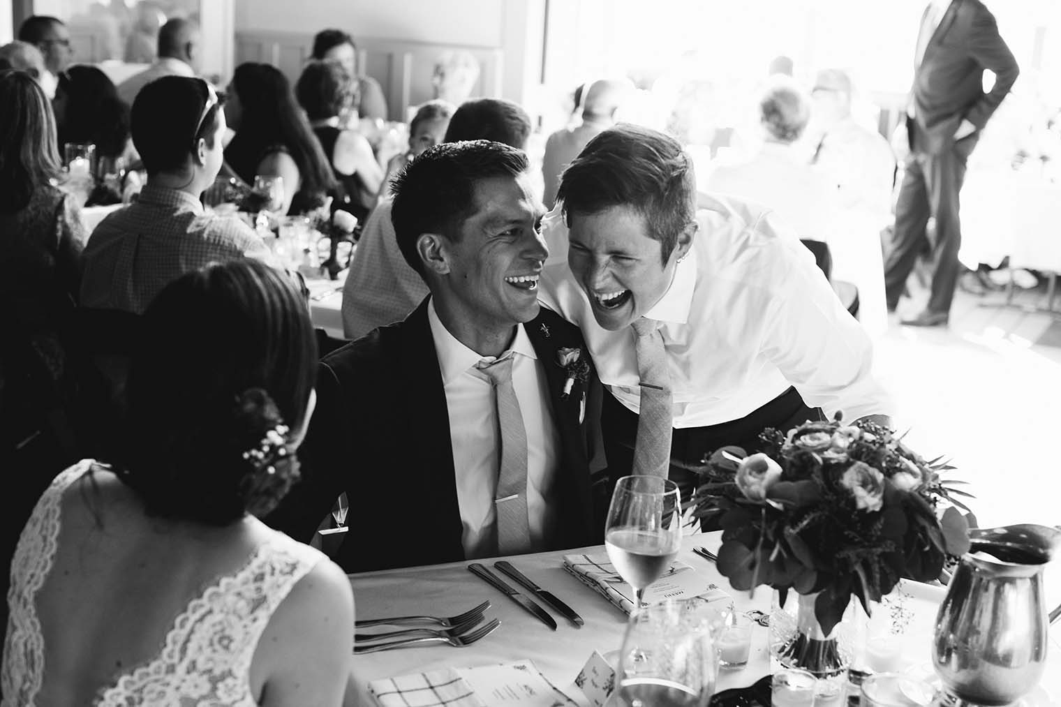 toasts at Highland Dell Lodge wedding