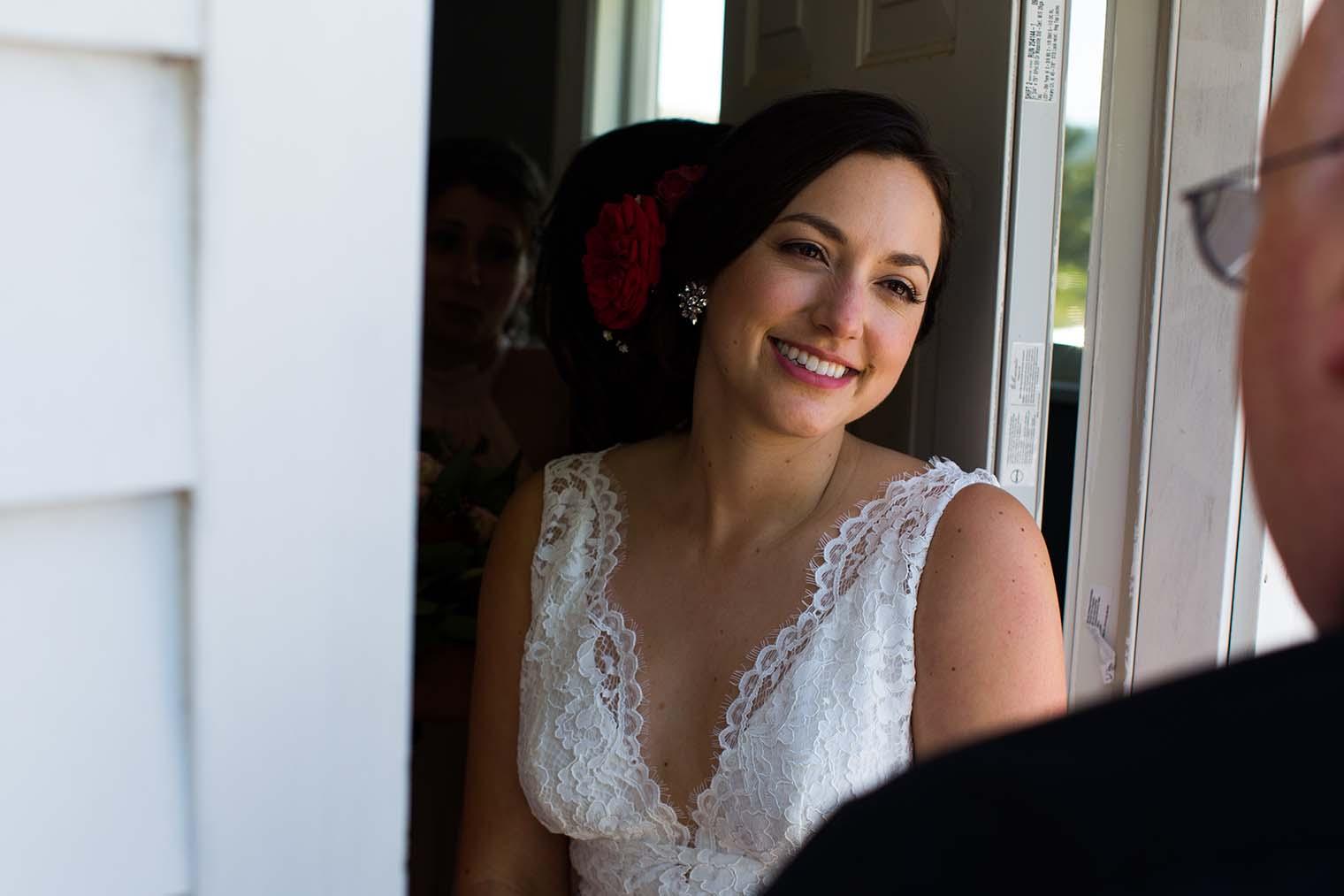 bride at Saint Teresa of Avila Church in Bodega, CA