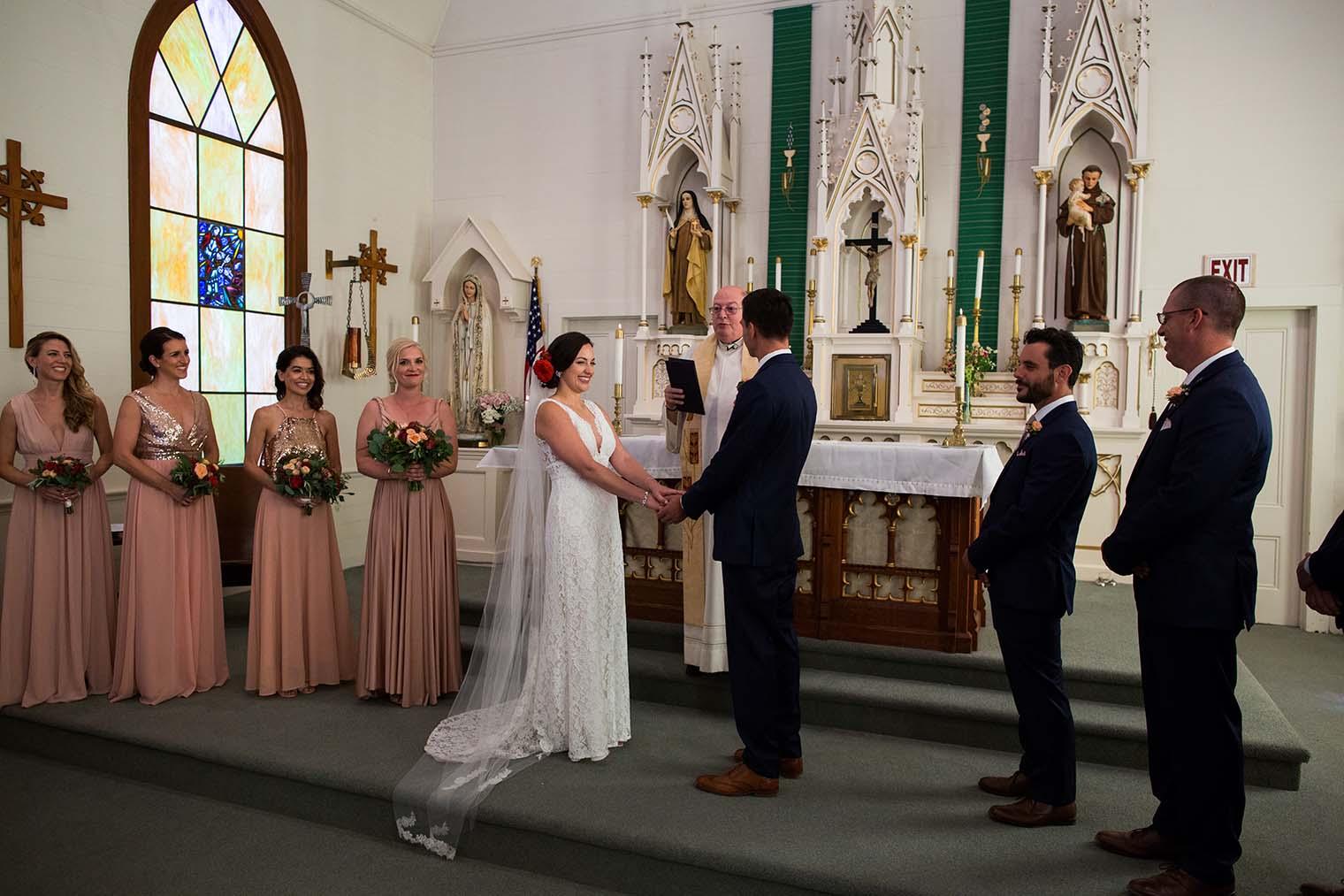wedding ceremony at Saint Teresa of Avila Church