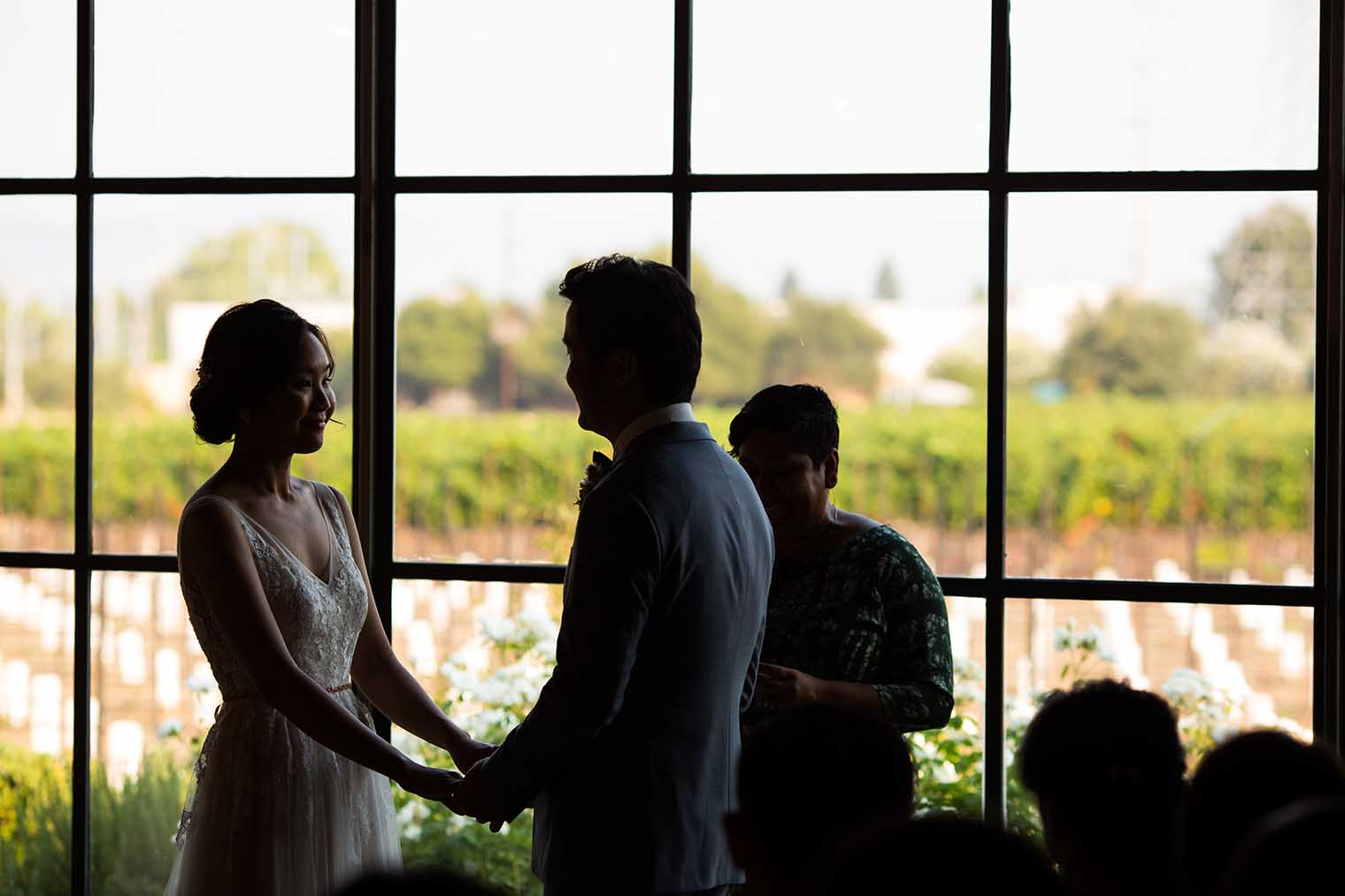 wedding ceremony at Farmstead at Long Meadow Ranch