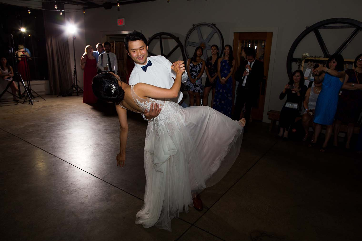 bride and groom first dance at Farmstead at Long Meadow Ranch