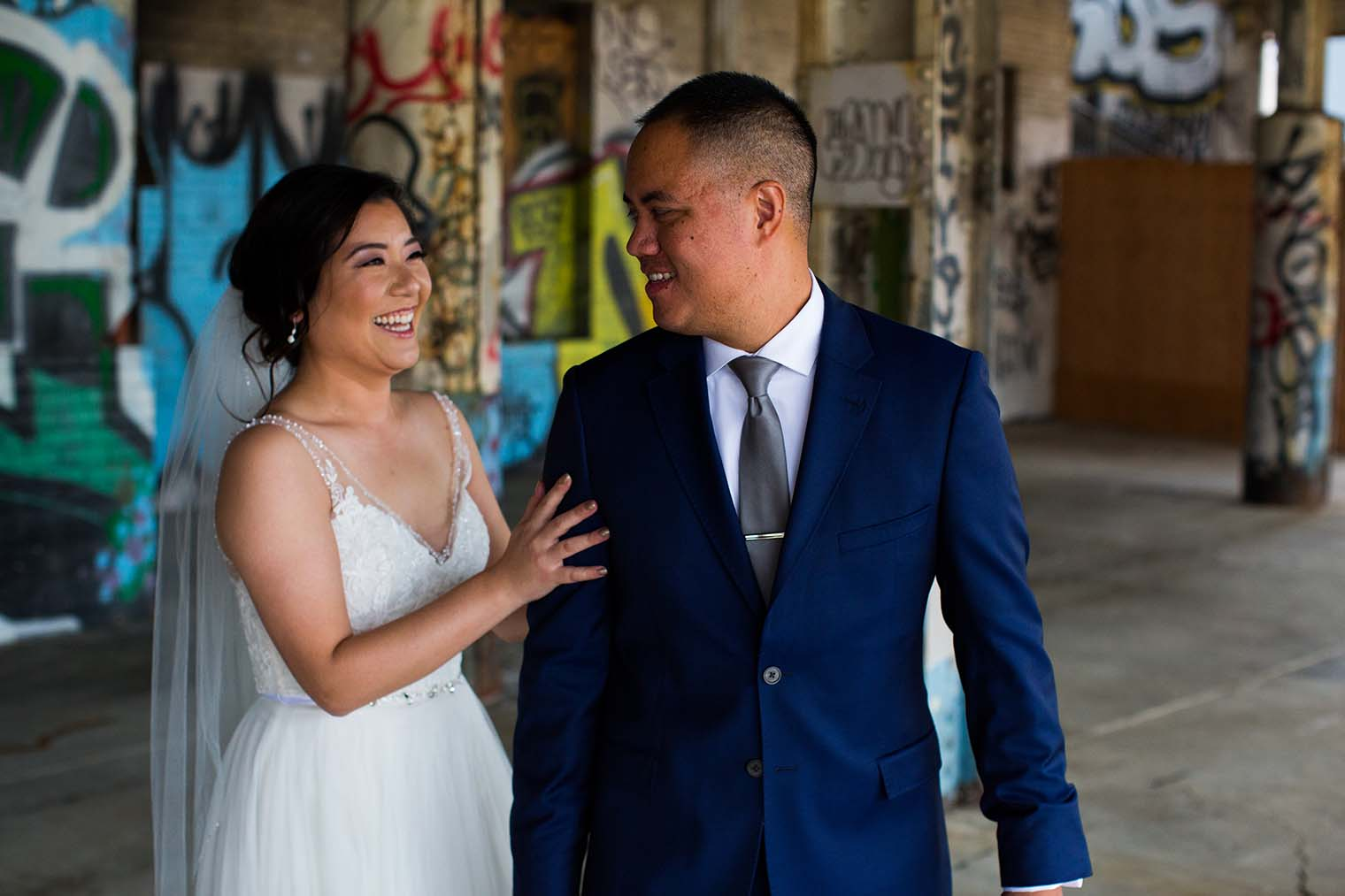 16th Street Station Wedding First Look