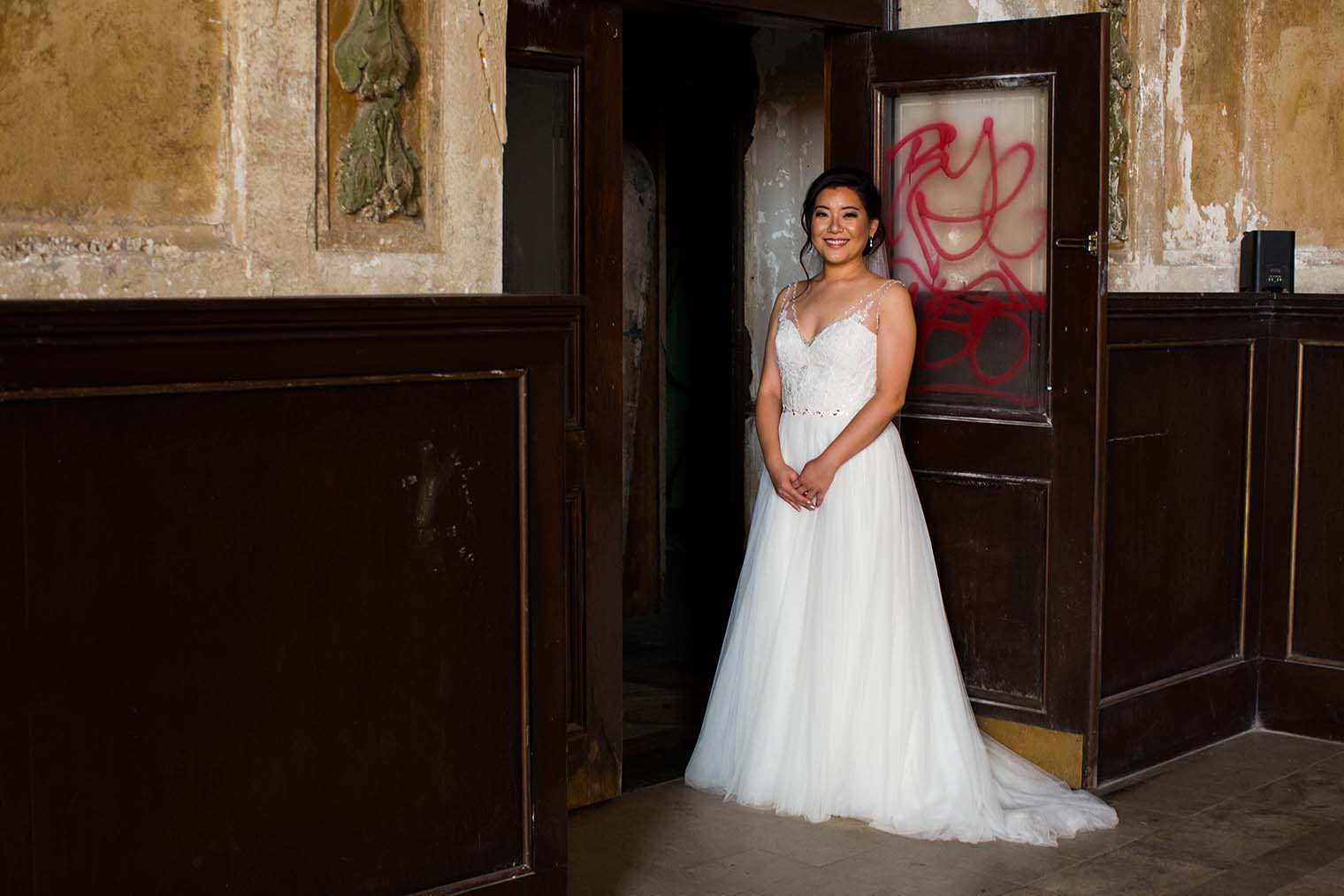 16th Street Station Wedding Bride Portrait