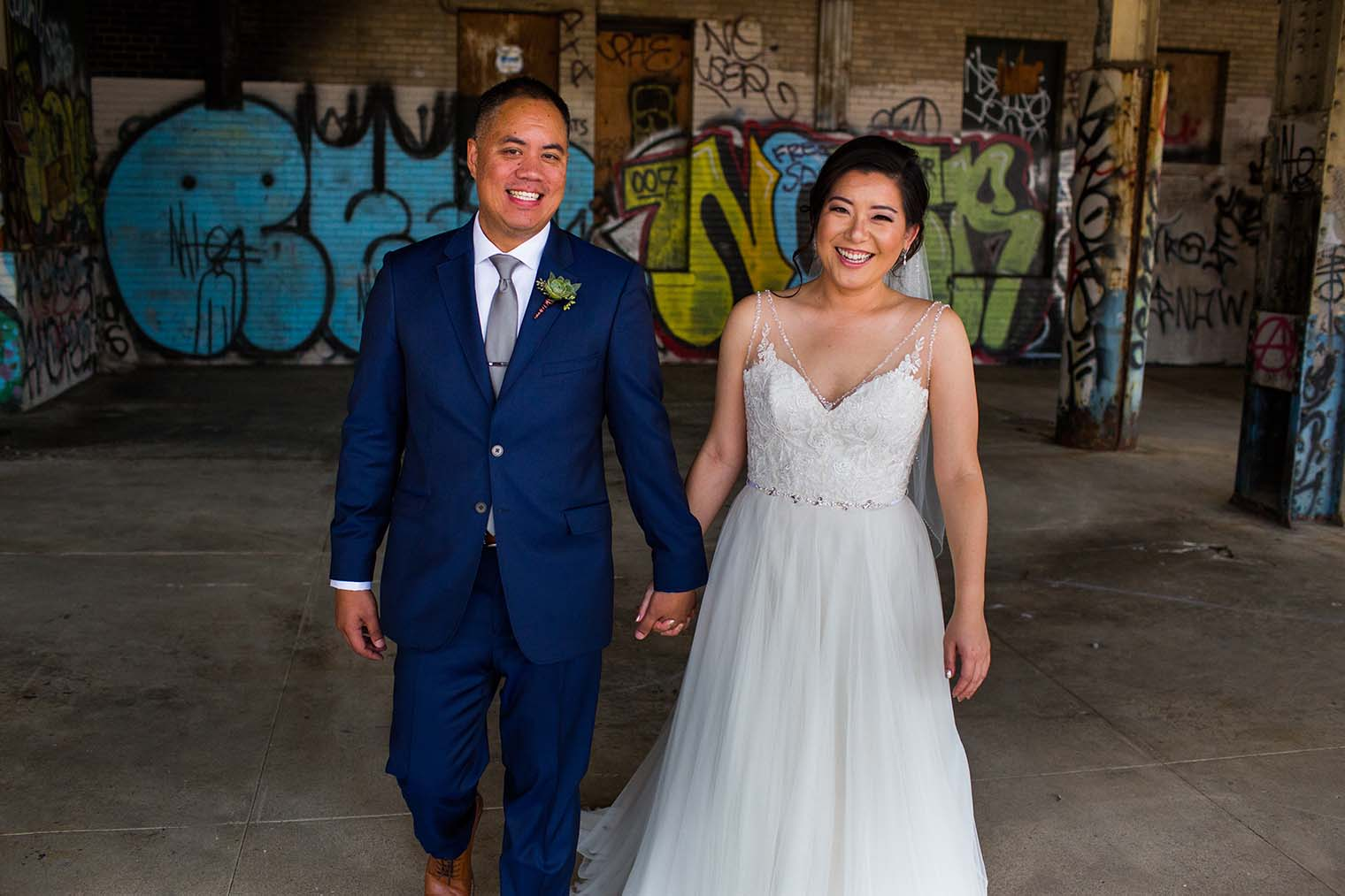 16th Street Station Wedding Couple Photos