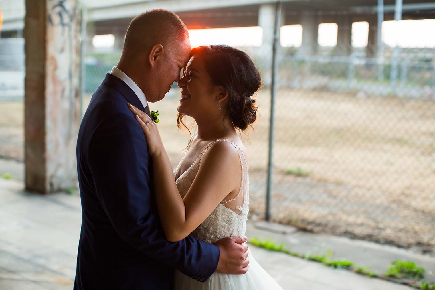 16th Street Station Wedding Sunset Photos