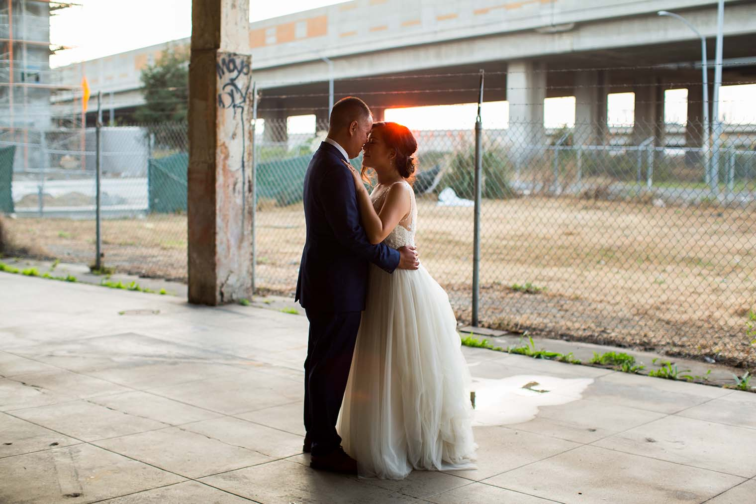 16th Street Station Wedding Sunset